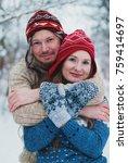 christmas background   winter...   Shutterstock . vector #759414697