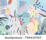 creative universal artistic... | Shutterstock .eps vector #759419707
