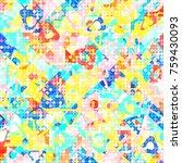 abstract 1980 memphis geometric ...   Shutterstock .eps vector #759430093