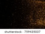 gold glitter vintage lights... | Shutterstock . vector #759435037