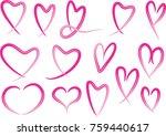 heart shape vector design set | Shutterstock .eps vector #759440617