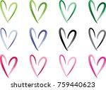 heart shape vector design set | Shutterstock .eps vector #759440623