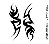 tattoo tribal vector design.... | Shutterstock .eps vector #759441067