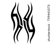 tattoo designs. tattoo tribal... | Shutterstock .eps vector #759441073