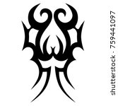 tattoo tribal vector design.... | Shutterstock .eps vector #759441097