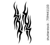 tattoo tribal vector design.... | Shutterstock .eps vector #759441133