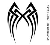 tattoo tribal vector design.... | Shutterstock .eps vector #759441157