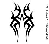 tattoo tribal vector design.... | Shutterstock .eps vector #759441163