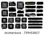 set of black ink vector stains   Shutterstock .eps vector #759453817