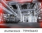 equipment  cables and piping as ... | Shutterstock . vector #759456643