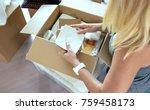 top view of unrecognizable... | Shutterstock . vector #759458173