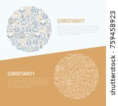 christianity concept in circle... | Shutterstock .eps vector #759458923