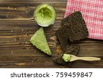 sandwiches with avocado paste | Shutterstock . vector #759459847