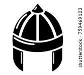 knight helmet guard icon....   Shutterstock .eps vector #759469123