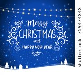 merry christmas and happy new... | Shutterstock .eps vector #759474343