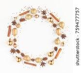 christmas composition.... | Shutterstock . vector #759477757