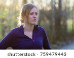 portrait of fit woman on nature ... | Shutterstock . vector #759479443