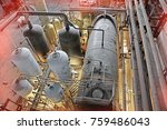 equipment  cables and piping as ... | Shutterstock . vector #759486043