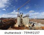 industrial building  foundation ... | Shutterstock . vector #759492157