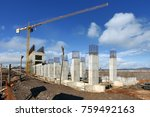 industrial building  foundation ... | Shutterstock . vector #759492163