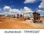 industrial building  foundation ... | Shutterstock . vector #759492187