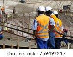 industrial building  foundation ... | Shutterstock . vector #759492217