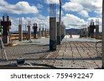 industrial building  foundation ... | Shutterstock . vector #759492247