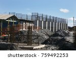 industrial building  foundation ... | Shutterstock . vector #759492253