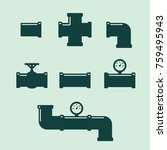 pipe fittings vector icons set. ... | Shutterstock .eps vector #759495943