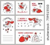 cute set vector sketch... | Shutterstock .eps vector #759515533