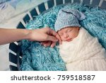small newborn cute baby  infant ... | Shutterstock . vector #759518587