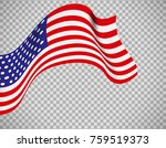 usa flag icon on transparent... | Shutterstock .eps vector #759519373
