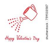 happy valentines day. love... | Shutterstock .eps vector #759533587