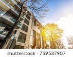 modern residential architecture ... | Shutterstock . vector #759537907