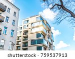 modern residential architecture ... | Shutterstock . vector #759537913