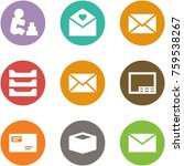origami corner style icon set   ... | Shutterstock .eps vector #759538267