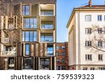 modern appartment house in... | Shutterstock . vector #759539323