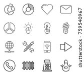 thin line icon set   circle...