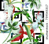 wildflower orchid flower... | Shutterstock . vector #759545317