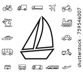 boat with sail. linear... | Shutterstock .eps vector #759546007