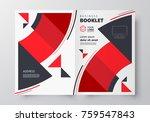 circles red booklet design... | Shutterstock .eps vector #759547843