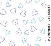 peach hearts seamless pattern.... | Shutterstock .eps vector #759550867