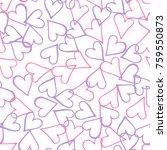 peach hearts seamless pattern.... | Shutterstock .eps vector #759550873