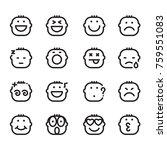 icon face  vector | Shutterstock .eps vector #759551083