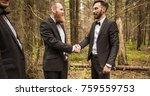 handshake business partners in... | Shutterstock . vector #759559753