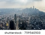 silhouette of manhattan  new... | Shutterstock . vector #759560503