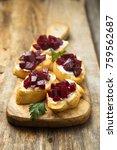 vegetarian appetizers with... | Shutterstock . vector #759562687