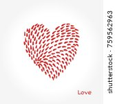 simple valentine day cards.... | Shutterstock .eps vector #759562963