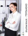 attractive  business woman ... | Shutterstock . vector #759564043