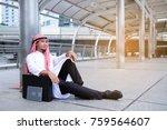 portrait successful handsome... | Shutterstock . vector #759564607